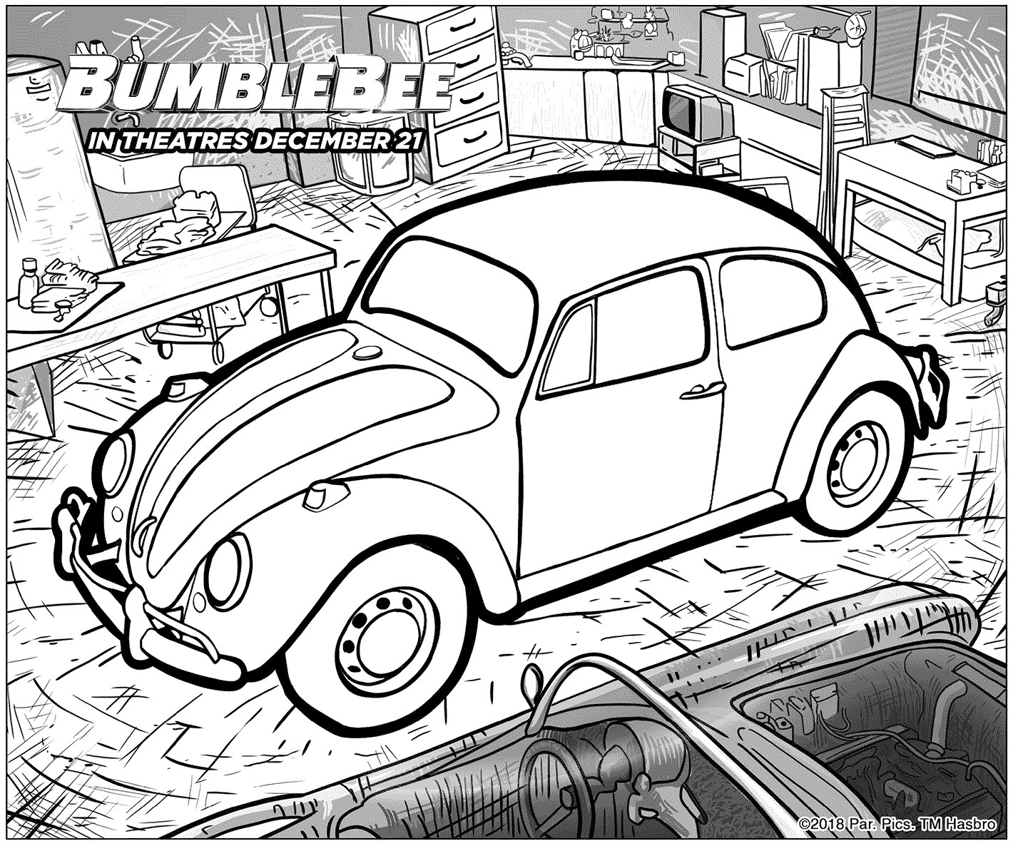 Chevrolet Camaro Bumblebee Car Coloring Pages : Best Place to ... | 1186x1420