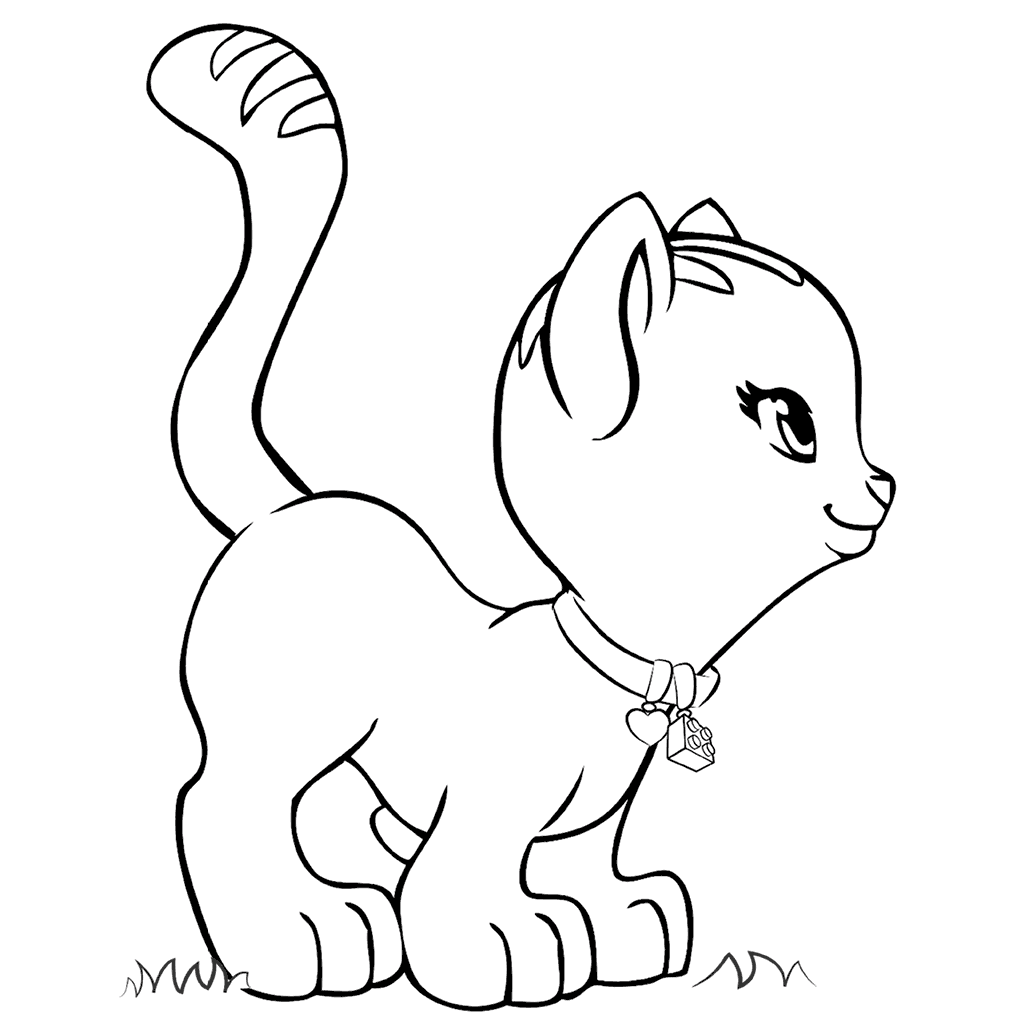 Cat Lego Friends Coloring Pages