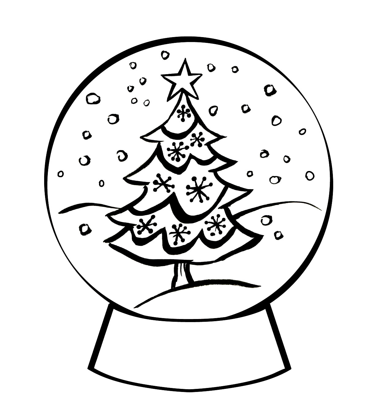 Snowglobe Coloring Pages - Best Coloring Pages For Kids