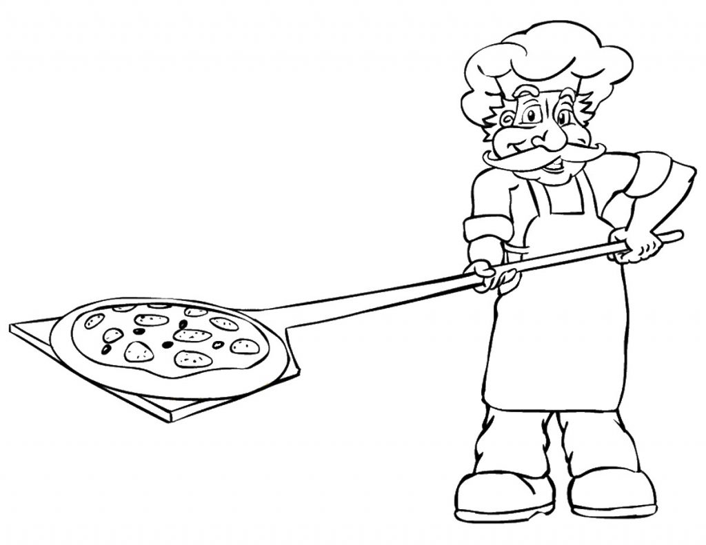 Cooking Pizza Coloring Pages