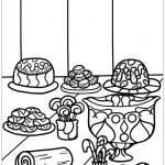Desserts Coloring Page