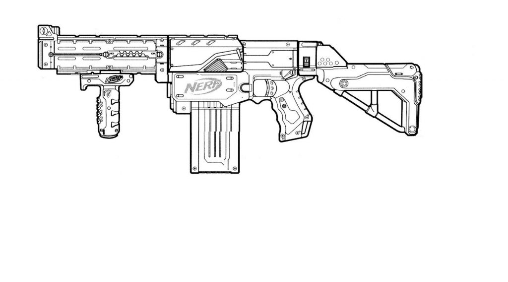 Drawing Of Nerf Gun Coloring Page