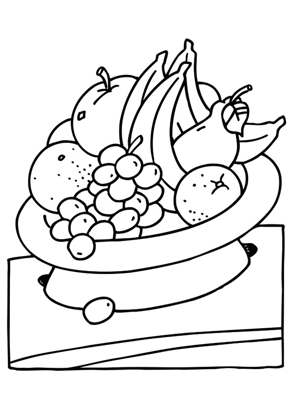 Fruitbowl With Oranges Coloring Page