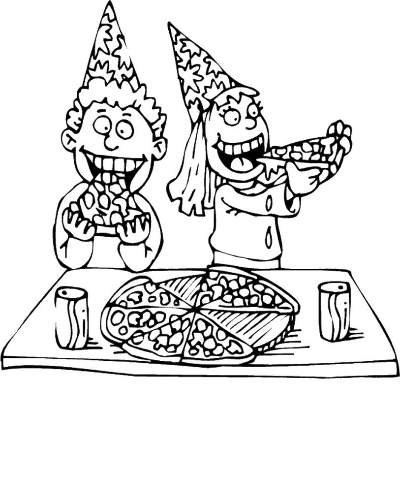 Fun Pizza Coloring Pages