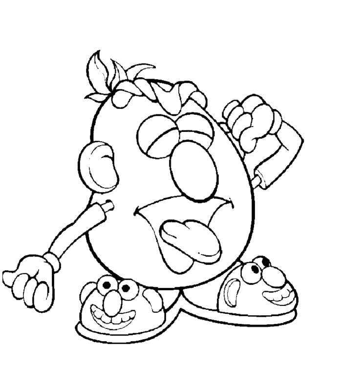 Funny Mr Potato Head Coloring Pages