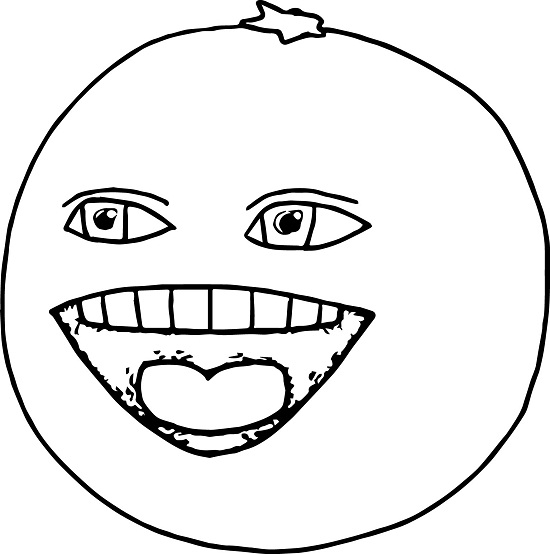 Funny Orange Coloring Page