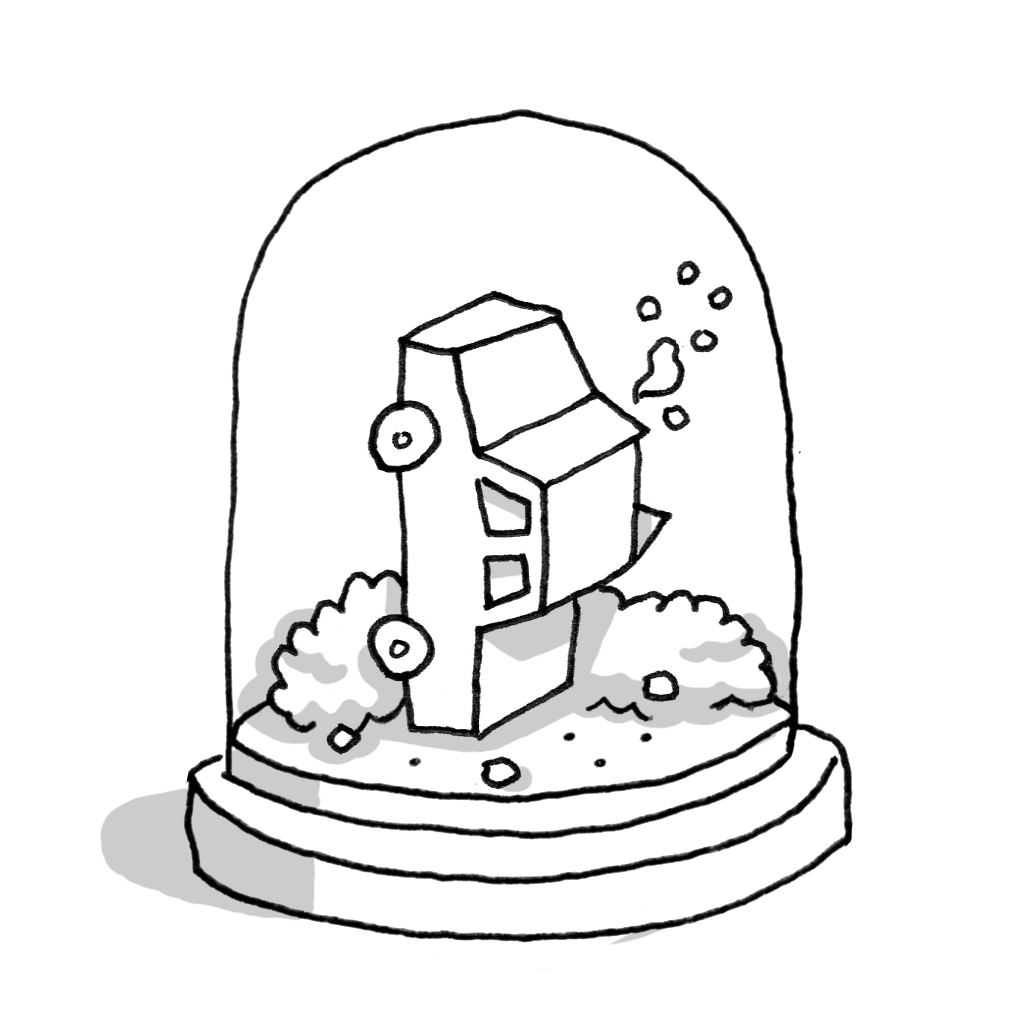 Funny Snowglobe Coloring Page