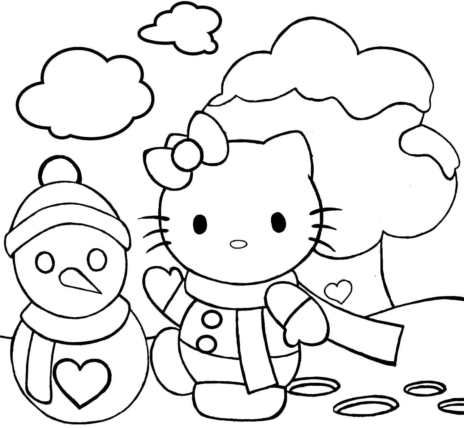 Hello Kitty Christmas Coloring Pages - Best Coloring Pages For Kids