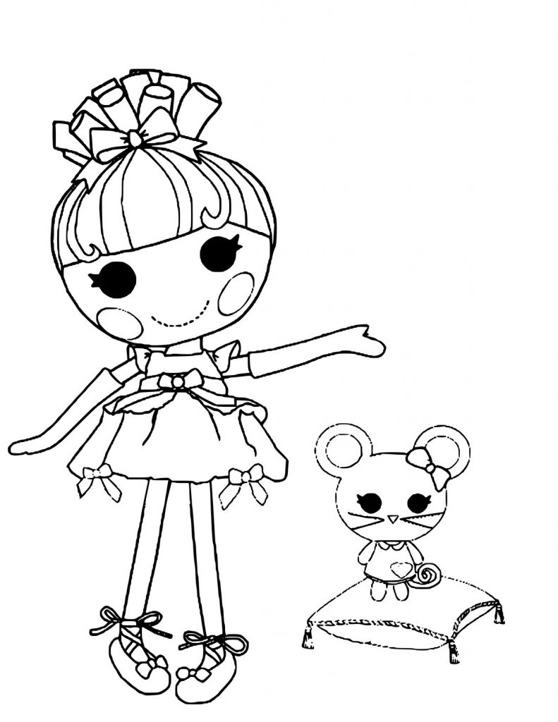 Lalaloopsy Cinder Slippers Coloring Page