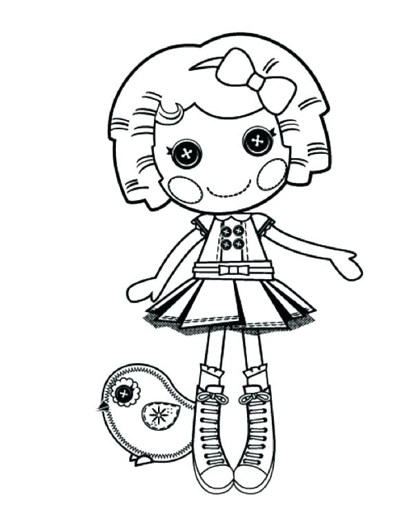 Lalaloopsy Dot Starlight Coloring Pages