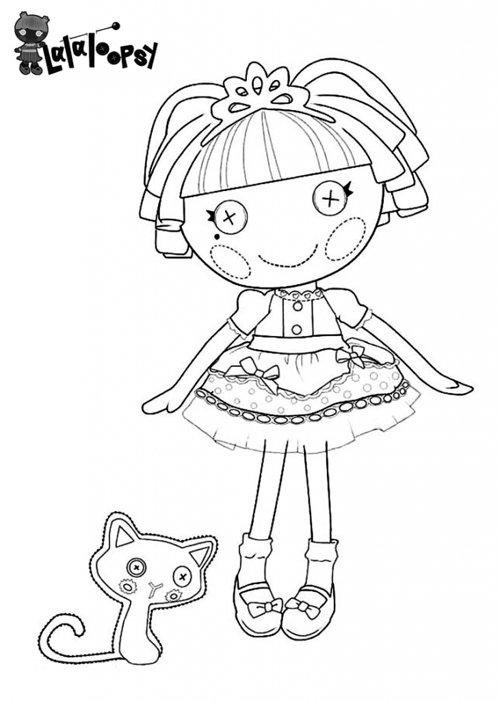 Lalaloopsy Jewel Sparkles Coloring Page