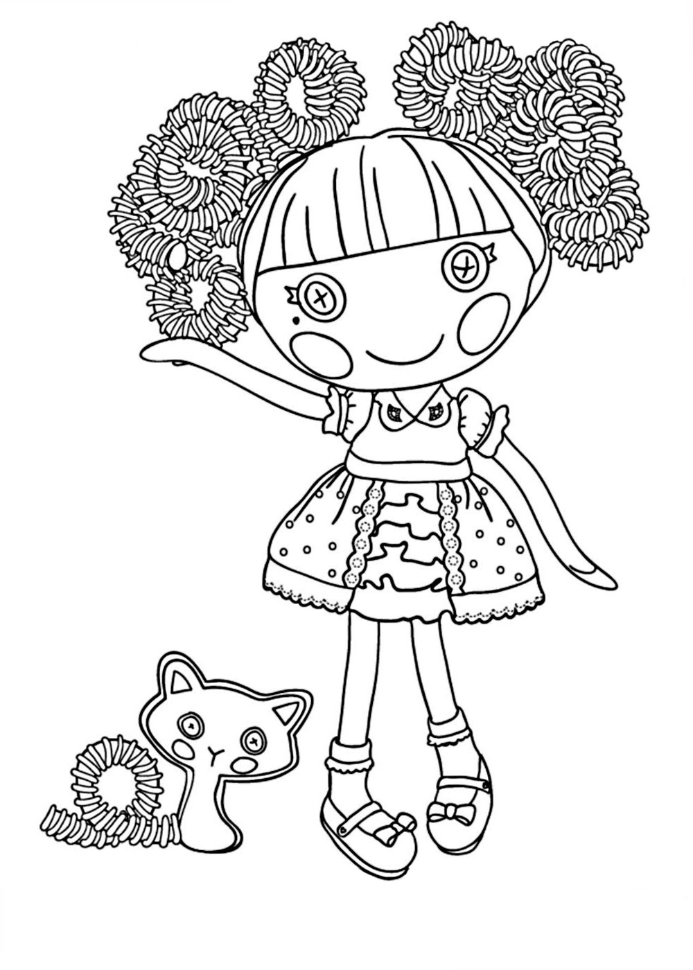 Lalaloopsy Jewels Sparkles Coloring Pages