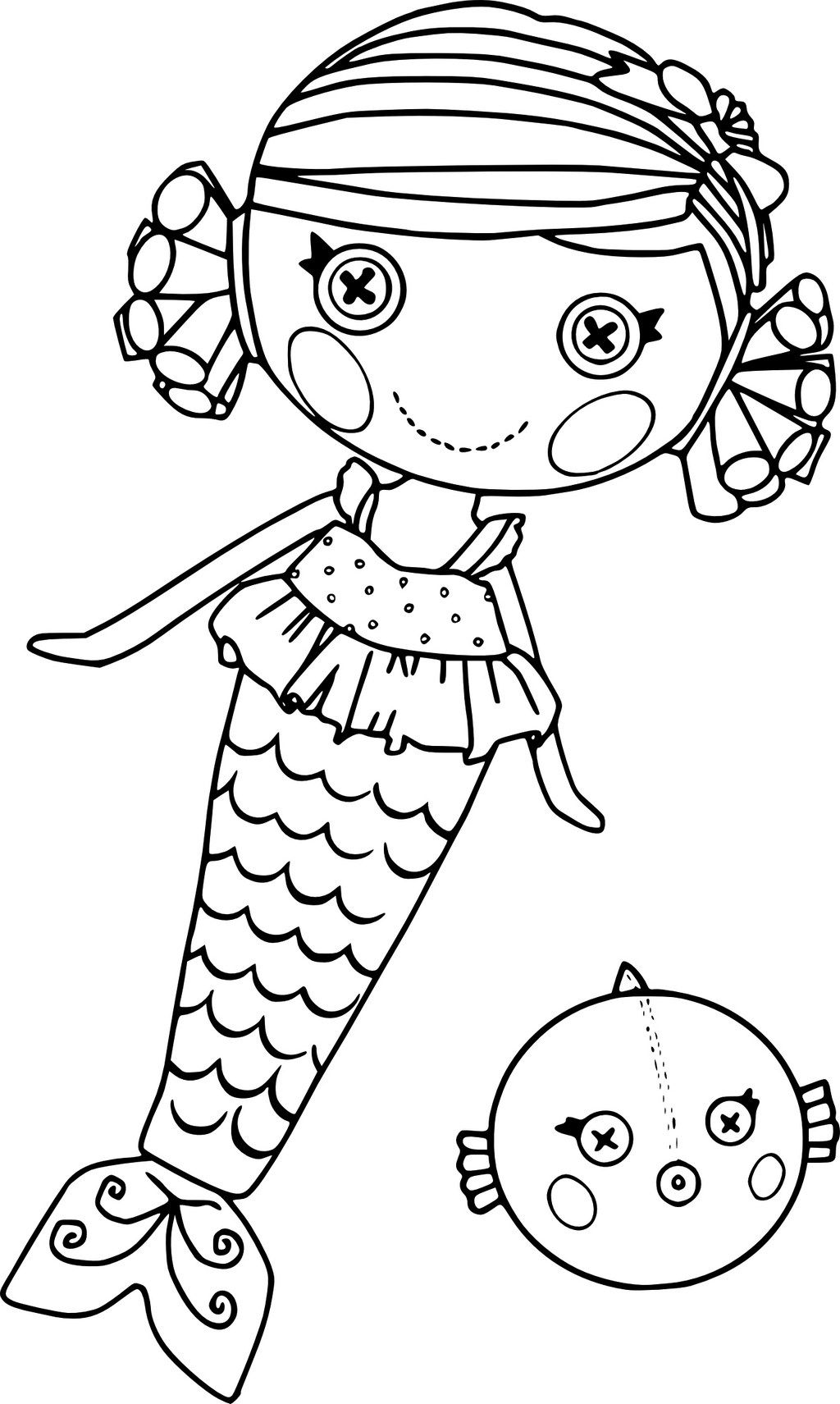 Lalaloopsy Mermaid Coloring Page