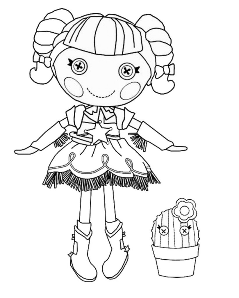 Lalaloopsy Prairie Dusty Trails Coloring Page