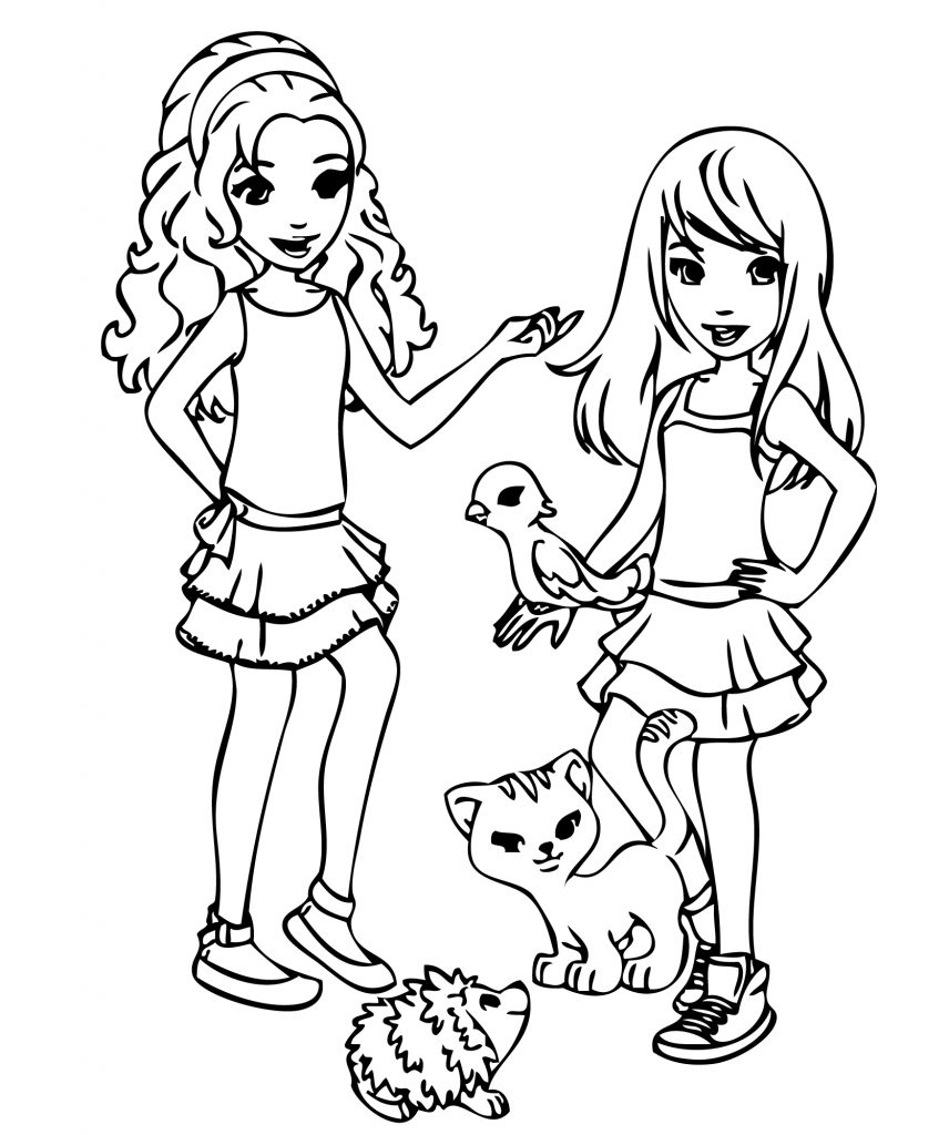 Lego Friends Animals Coloring Pages