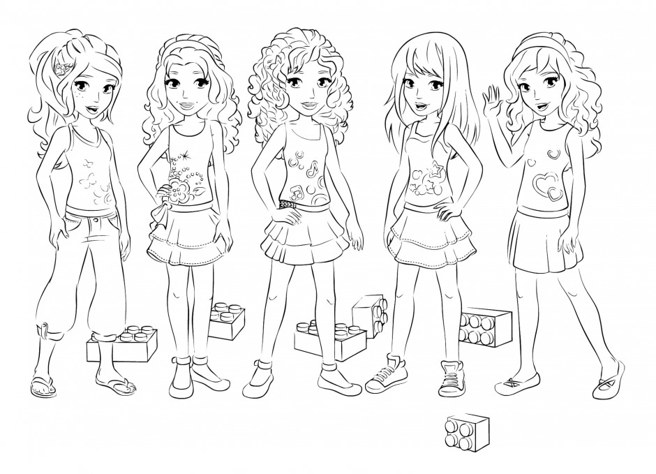 Lego Friends Characters Coloring Pages