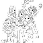 Lego Friends Goodies Coloring Pages