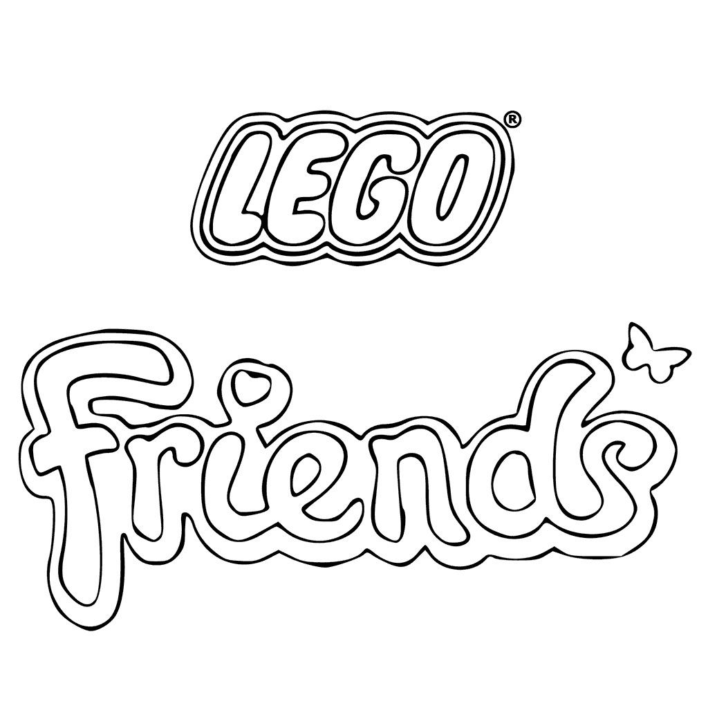 Lego Friends Logo Coloring Pages