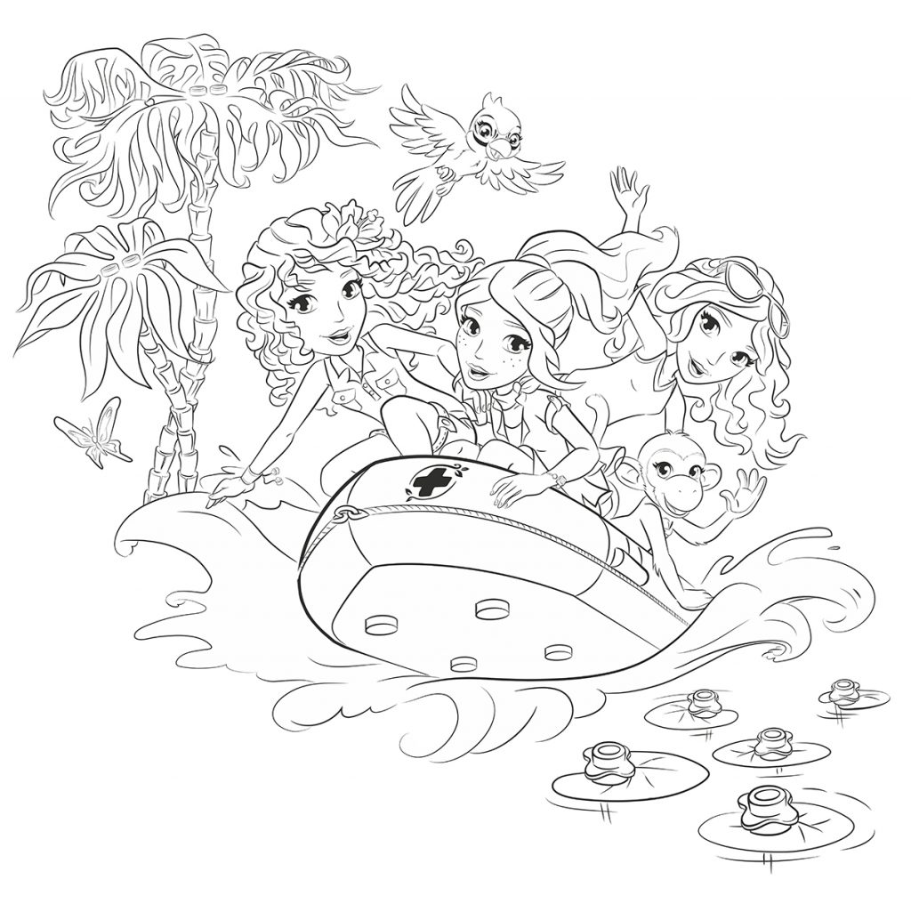 Lego Friends Rescue Coloring Pages