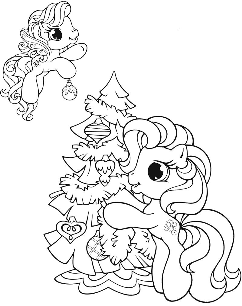 Mlp Christmas Decorations Coloring Page