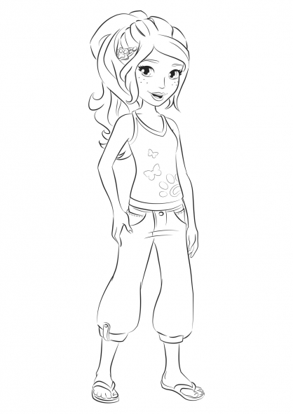 Mia Lego Friends Coloring Pages
