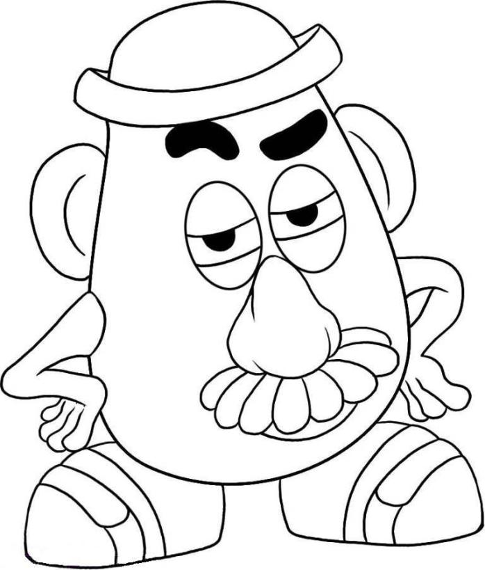 Mr Potato Head Toy Story Coloring Page