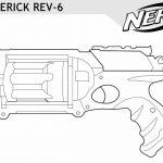 Nerf Gun Maverick Coloring Pages