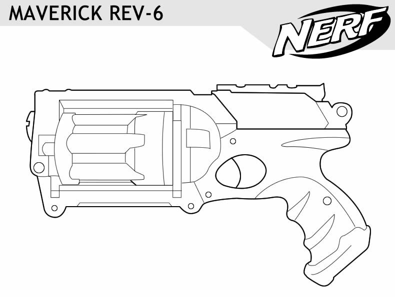 Nerf Gun Maverick Coloring Pages