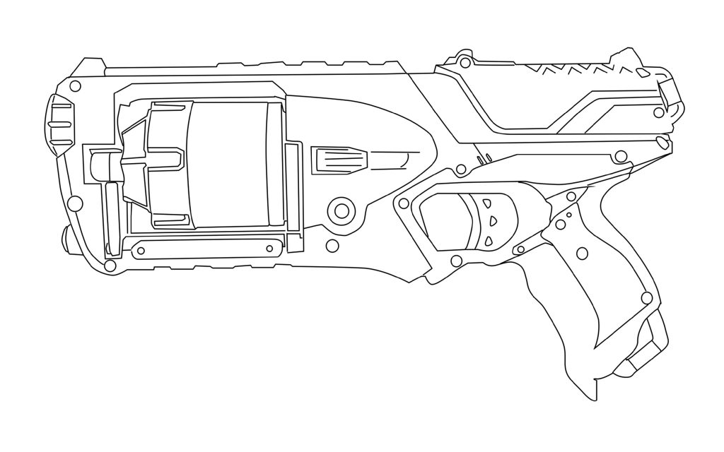 Nerf Gun Maverick Schematic Coloring Pages