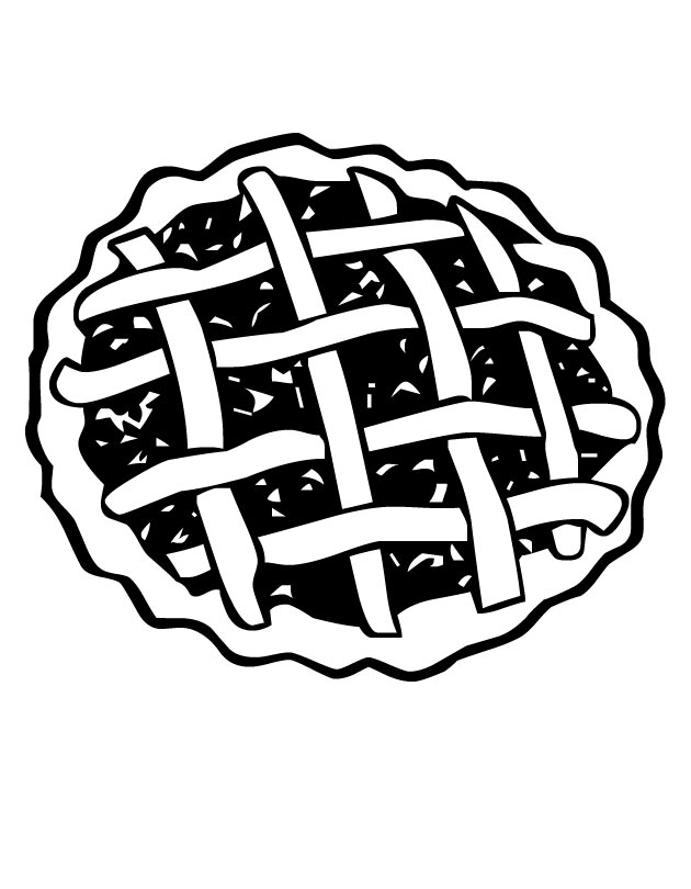 Pie Top Coloring Page