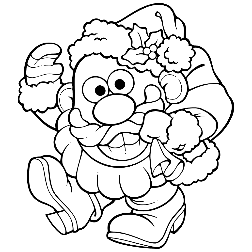 Santa Mr Potato Head Coloring Pages