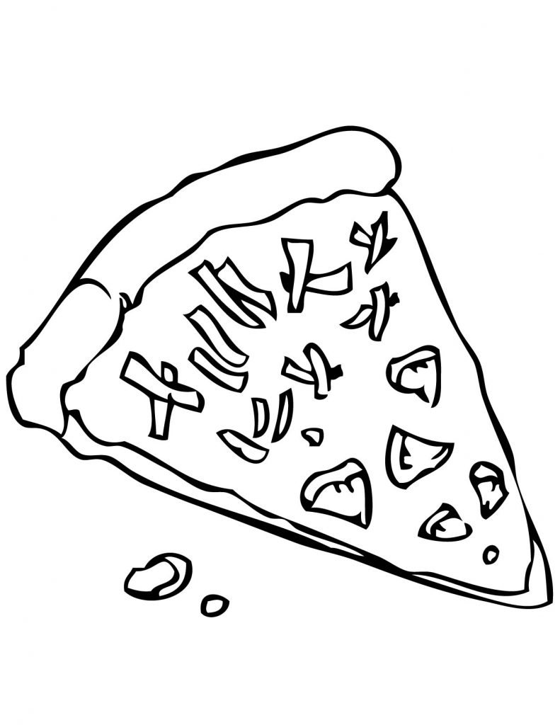 Slice Of Pizza Coloring Page