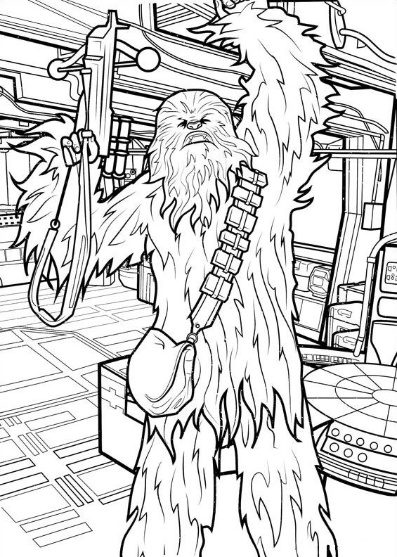 Star Wars Chewbacca Coloring Page