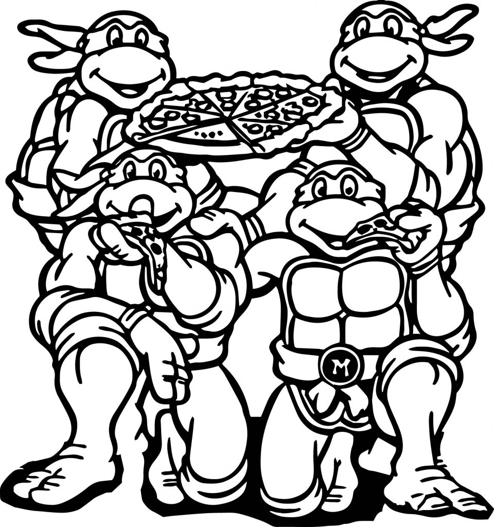 Tmnt Pizza Coloring Pages