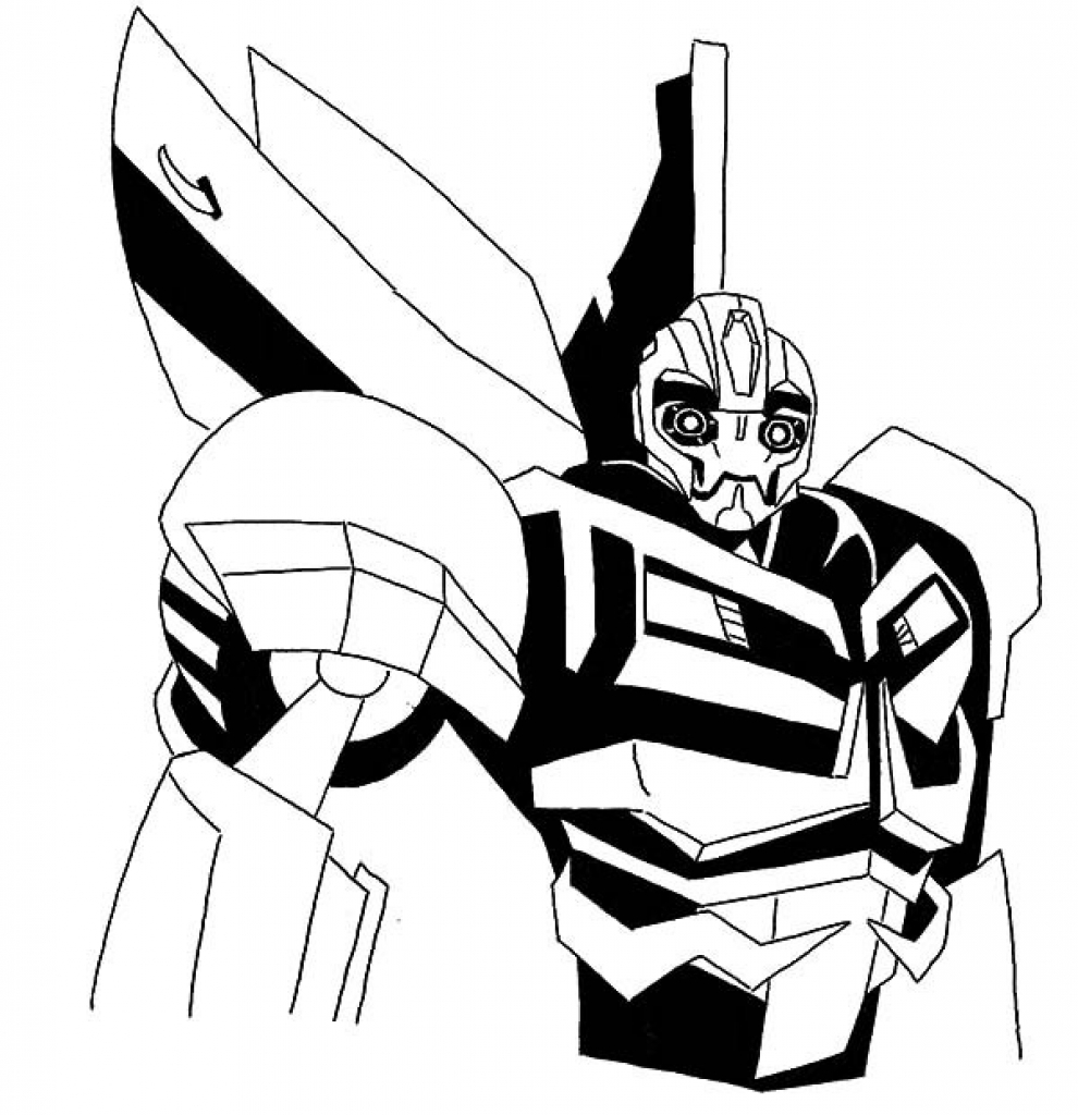Transformers Bumble Bee Coloring Page