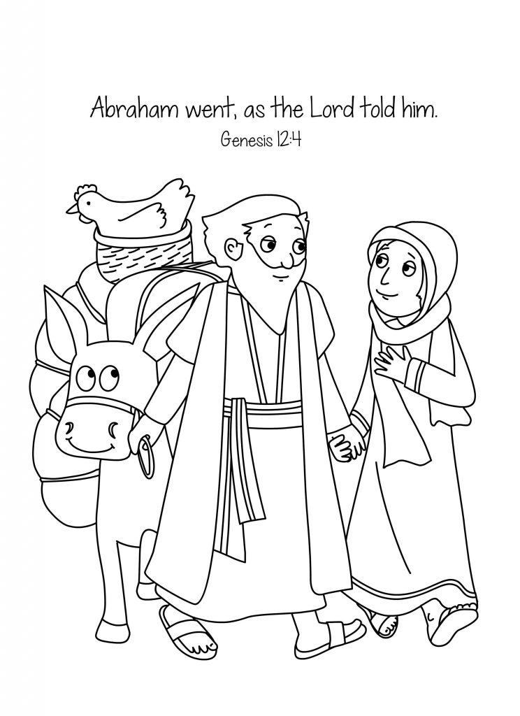 Abraham Faithful To The Lord Coloring Page