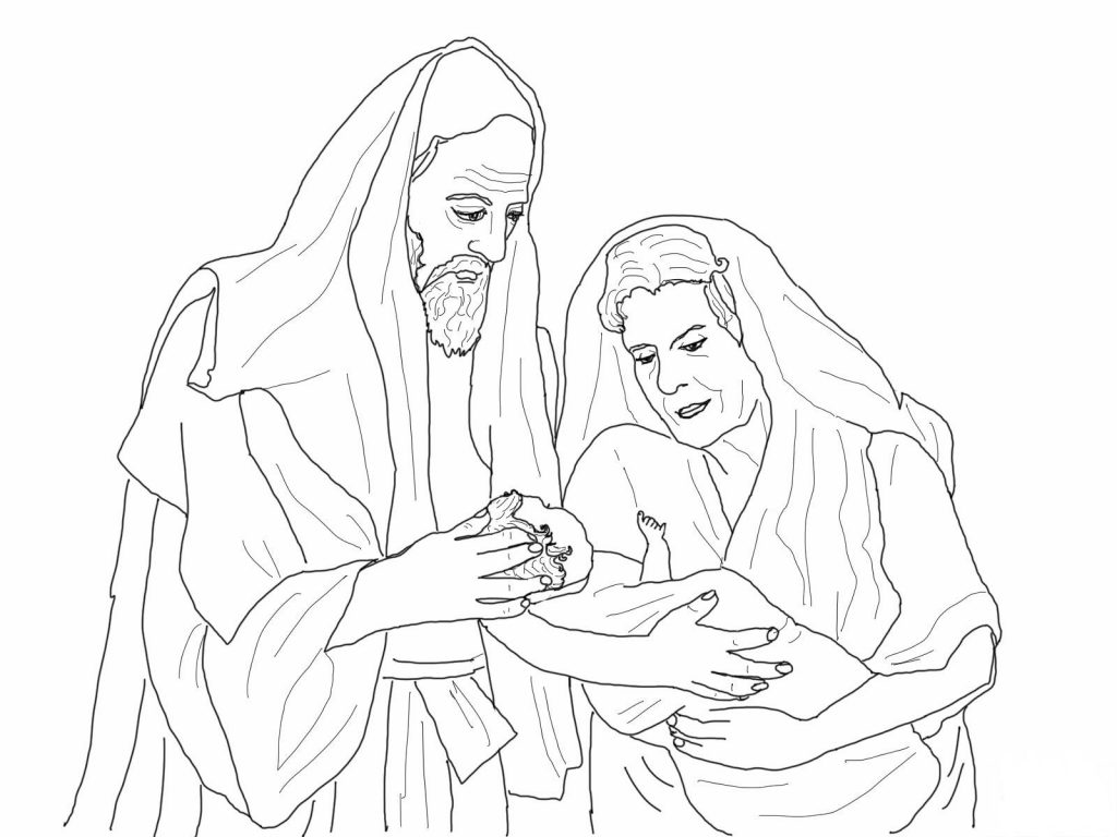 Abraham Sarah And Issac Coloring Pages