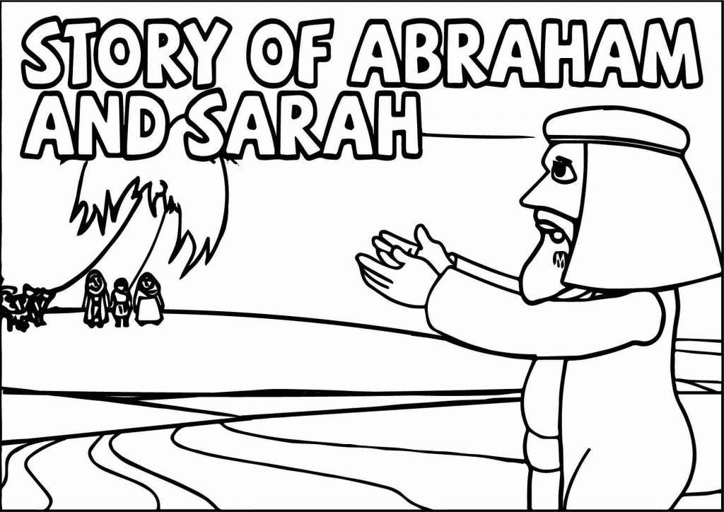Bible Story Of Abraham And Sarah Coloring Pages