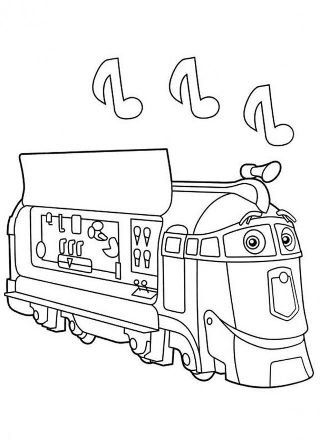 Chuggington Frostini Music Coloring Pages