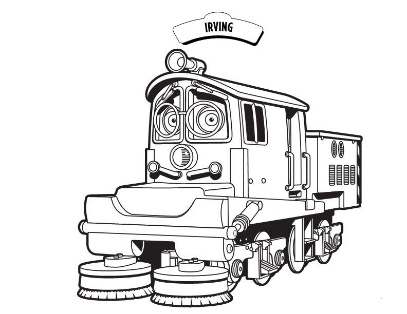 Chuggington Irving Coloring Pages