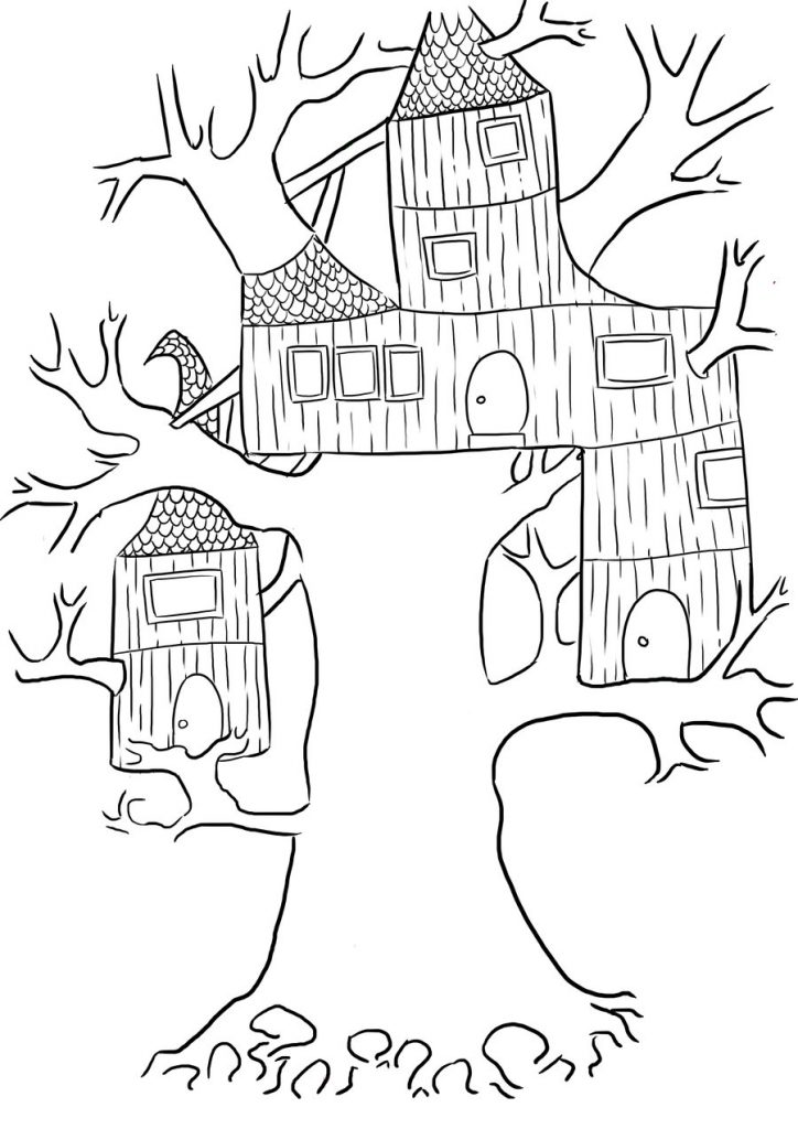 Cool Treehouse Coloring Pages