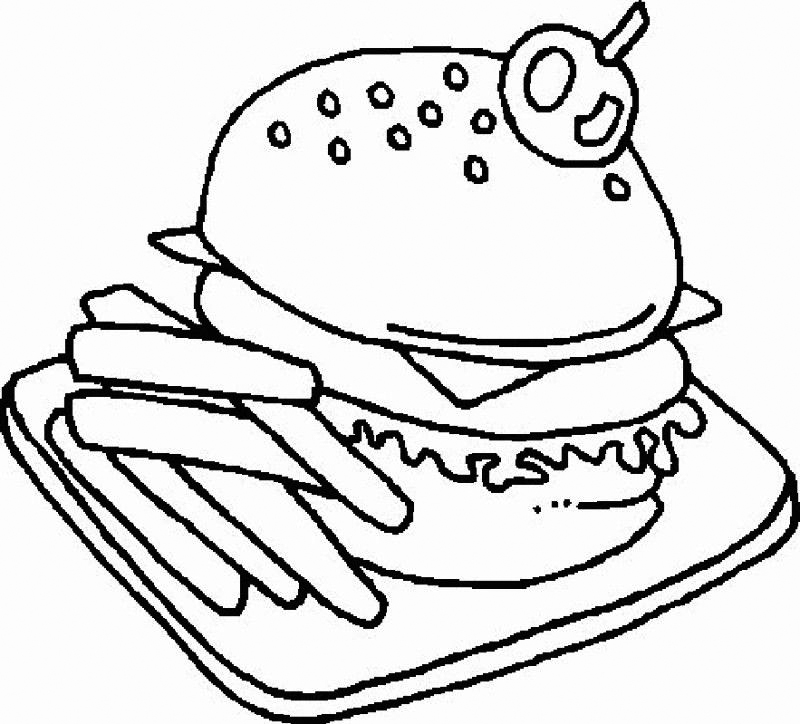 Fancy Hamburger Coloring Pages