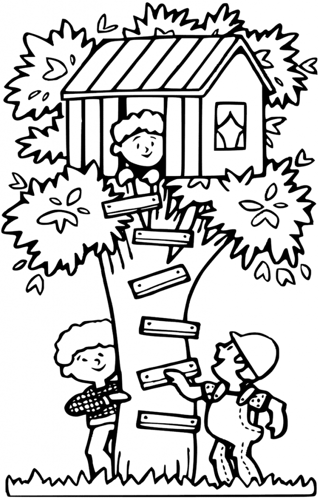 Fun Treehouse Coloring Pages
