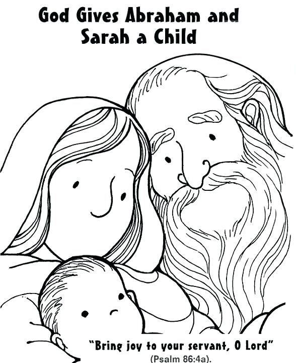 God Gives Abraham And Sarah A Child Coloring