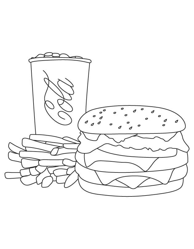 Hamburger Coloring Pages