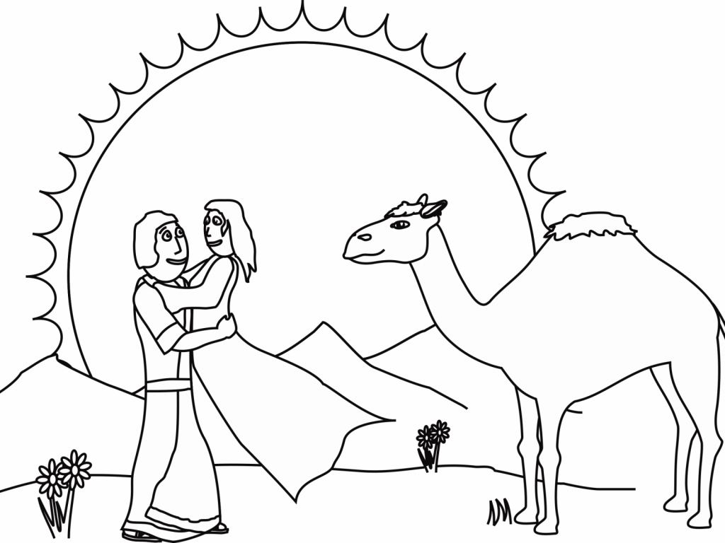 Happy Abraham And Sarah Bible Coloring Pages