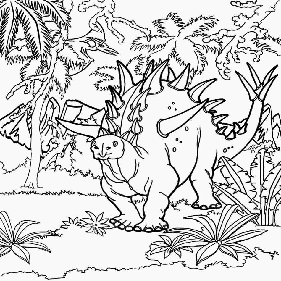 Jurassic Forest Coloring Page