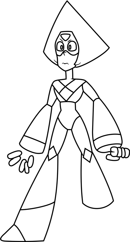 Peridot Steven Universe Coloring Pages