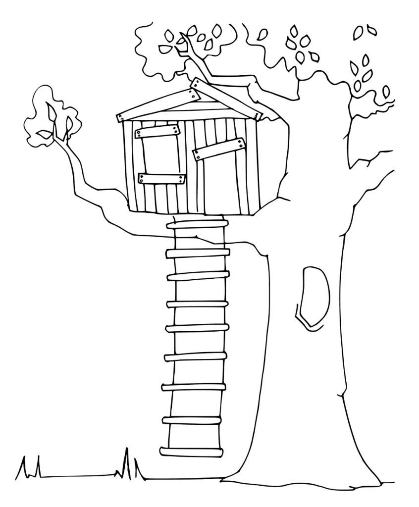 Printable Treehouse Coloring Pages