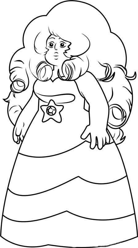 Rose Quartz Steven Universe Coloring Pages